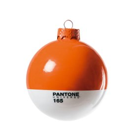 Set of 4 Pantone® baubles orange