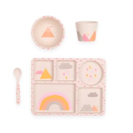 Rainbows Dinner Set - 4 pieces