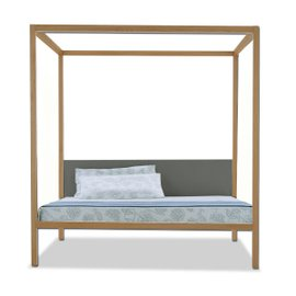 Milleunanotte four-poster double bed in fabric