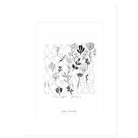 "Stampa ""Flower vases"""