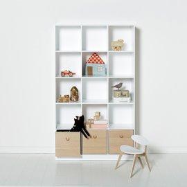Libreria verticale Wood 3x5 con base