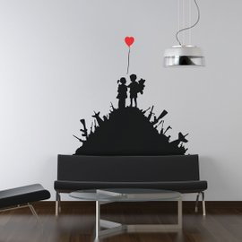 Banksy Kids with Guns Wall Stickers