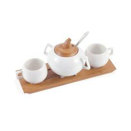 Servizio da caffè rettangolare 4 Pz