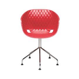 Uni-ka chair on swivel 5-spoke steel support