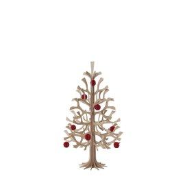 Albero di Natale H 30 cm con palline rosse