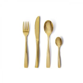 Passion gold 16-piece flatware set