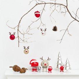 2 palline Rudolf Christmas