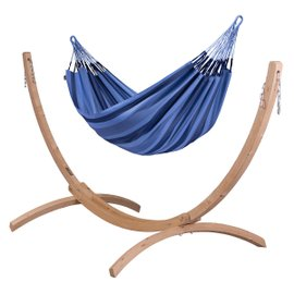 Aventura double hammock with Canoa stand