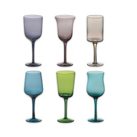6 glasses Diseguale - assorted colors
