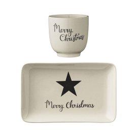 Christmas Star plate and bowl