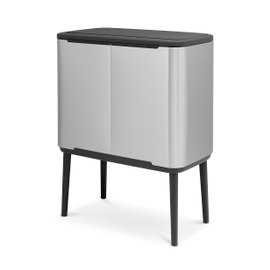 Bo Touch triple dustbin 3x11 l – FPP satin-finished stainless steel