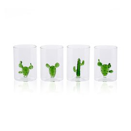 4 Bicchieri Cactus