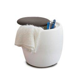 Pouf conteneur Candy - blanc mat