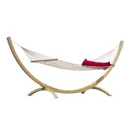 California kingsize hammock with cushion and Canoa stand