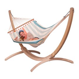 Colada double hammock with Canoa stand