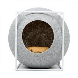 Cuccia per gatti The Cube con struttura bianca