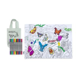 Buttefly colorable placemat