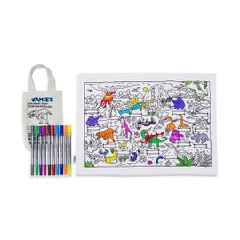 Dinosaur colorable placemat
