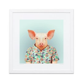Pig Zoo Portraits print