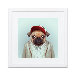 Stampa Pug Zoo Portraits