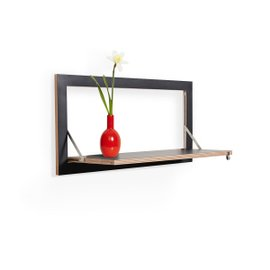 Fläpps Black Floating Shelf 80x40 cm