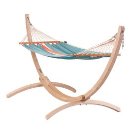 Fruta single hammock with Canoa stand