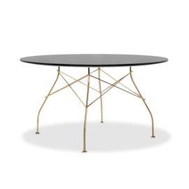 Glossy round table