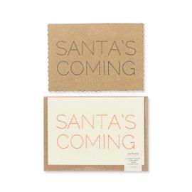 6 cards Santa's Coming