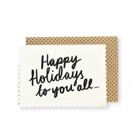 6 cartes de voeux Happy Holidays