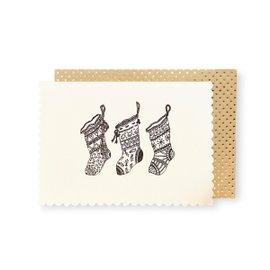 6 cartes de voeux Luxe Stockings