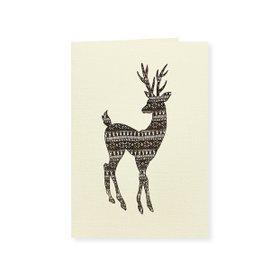 6 cartes de voeux Knitted Reindeer