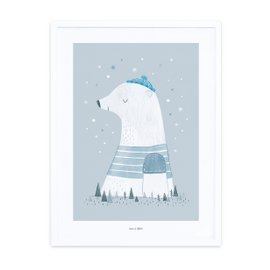 Print with frame - Polar bear