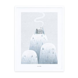 Print with frame - Snowy mountains