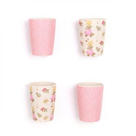 4 Floral and Pink Cups