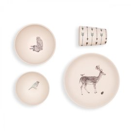 Forest Supper Dinner Set - 4 pieces