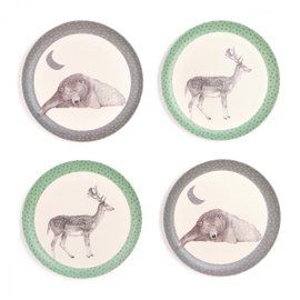 4 Bear and Deer Plates