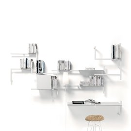 Antologia shelving with desk