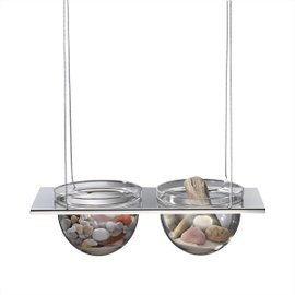 Suspended Floating Shelf with 2 half-spheres