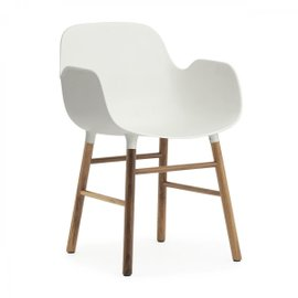 Form walnut small armchair