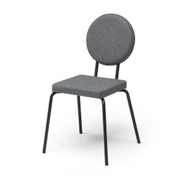 Option Chair with square seat and round backrest