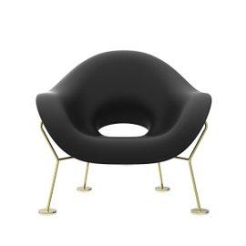 Sedia Pupa con gambe ottone