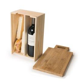 Coffret à vin et planche à découper Saycheese