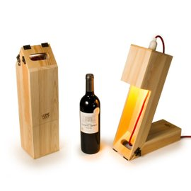 Winelight wine box and table light