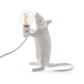 Standing Mouse table lamp - white