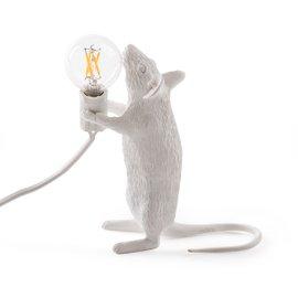 Lampe de table Mouse debout - blanc