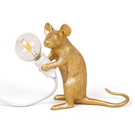 Table lamp Mouse sitting