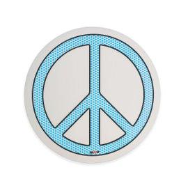 Peace round mirror