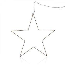 Décoration à accrocher noire étoile
