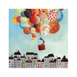 """""""Ballons In Volo"""" canvas 50x50 cm"""