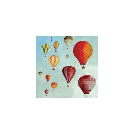 """""""Montgolfières In Volo"""" canvas 30x30 cm"""